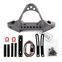 Metal Front Bumper with LED light for 1/10 RC Car Traxxas TRX4 Axial SCX10/ II