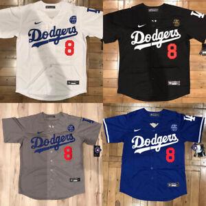 Kobe Bryant #8 Front & #24 Back Los Angeles Dodgers Blue/Black/Grey/White Jersey