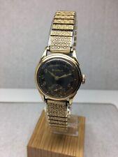 "Vintage 40's Bulova ""Air Warden"" Gold Watch Year 1942 Mvt 10BS 15j SN #3261667"