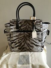 New REED KRAKOFF Atlantique Leather Handbag Bag in Zebra Print Calf Hair