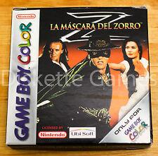 LA MASCARA DEL ZORRO - GAMEBOY COLOR GBC GAME BOY COLOUR - PAL ESPAÑA