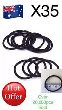 35x Black Elastic Rubber Girl Hair Ties Band Rope Ponytail Holder Fashion $