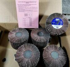 UNITED ABRASIVES-SAIT 70112 Mandrel Flap Wheels 3x2x1/4  80 Grit 10 Pack