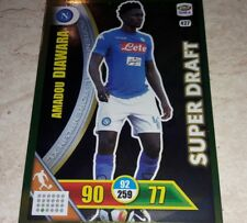 CARD ADRENALYN CALCIATORI PANINI 2017/18 NAPOLI DIAWARA 427 SUPER DRAFT