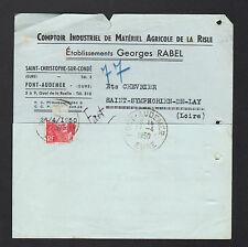 """PONT-AUDEMER & SAINT-CHRISTOPHE-sur-CONDE (27) MATERIEL AGRICOLE """"Georges RABEL"""""""