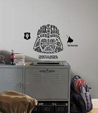 DARTH VADER TYPOGRAPHY WALL DECALS BiG Star Wars Stickers Black Room Decor