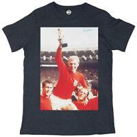 BOBBY MOORE ENGLAND FOOTBALL WORLD CUP 1966 FINAL MENS LARGE PHOTO PRINT T-SHIRT