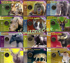 2003 Malaysia Endangered Species Animal Series Limited Edition Coin Set UNC