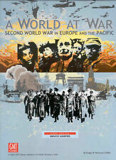 A World at War: Second World War in Europe and the Pacific GMT Wargame, New, Eng
