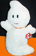 "TY BEANIE BUDDY ""SPOOKY"" The Halloween GHOST Retired MWMT! Plush Bean Bag Toy"