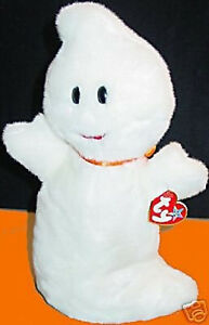 "TY BEANIE BUDDY ""SPOOKY"" The Halloween GHOST Retired MWMT! Plush Bean Bag Toy"