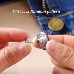 10pcs Jeans Button 20 mm Denim Jeans Jacket Buttons Repair Replace