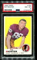 1969 Topps Football #180 PAT RICHTER Washington Redskins PSA 8 NM-MT