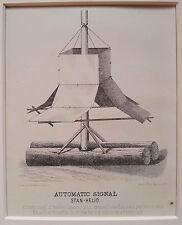 ADIRONDACKS MOUNTAIN - Signal - Original Print 1874 New York State surveying