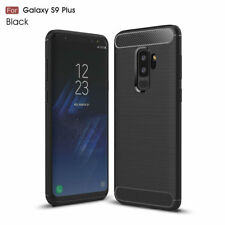CoverKingz Samsung Galaxy S9 Plus Handyhülle Carbon Brushed Cover Soft-Case