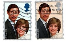 GB Stamps SG1160-1161 Used 1981 Royal Wedding,Charles & Diana  Multicoloured