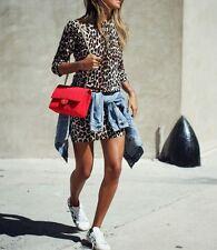 NWT Equipment Marta Leopard Print Silk & Cashmere Sweater Dress Natural XS $318