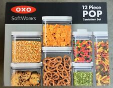 OXO SoftWorks Containers with POP Lids Airtight Seal Easy  BPA-Free 12 Count New