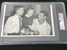 Jimmie Foxx Ted Williams Autograph Red Sox PSA/DNA Authentic