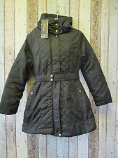 Brave Soul Longline Quilted Coat - Black Size 10