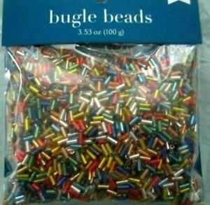 Mixed Glass Bugle Beads tube 5 mm ,100 g