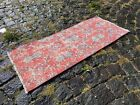 ETHNIC DESIGNED VINTAGE TURKISH CARPET, HAND MADE AND WOOL | 1,4 x 3,4 ft