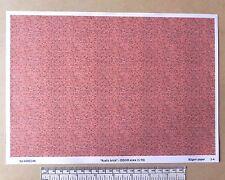 """OO/HO gauge (1:76 scale) """"rustic brick"""" -  paper - A4 sheet"""