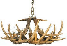 Whitetail Cast 6 Antler Chandelier/Pendant 4-Lights 24x11 Made In USA