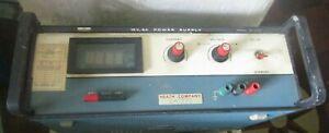 Heathkit Power Supply 15V 5A Vintage Model SP-2721 powers on