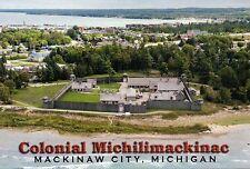 Fort Michilimackinac Mackinaw City Michigan - Colonial History Military Postcard