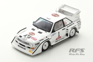 Audi Sport Quattro S1 E2 Hannu Mikkola Olympus Rallye 1985 1:43 Spark 7896 NEU