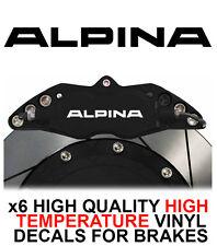 BMW ALPINA HI - TEMP CAST VINYL BRAKE CALIPER DECALS STICKERS