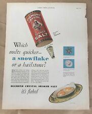 Diamond Crystal Salt ad 1930 original vintage illustration art food decor eggs