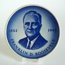 "ROYAL COPENHAGEN ALUMINIA - FRANKLIN ROOSEVELT - PLAQUETTE 3"" PIN DISH #179 8CM"