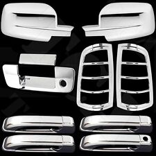 Chrome Covers Mirror 4 Door Handles Tailgate Taillights For Dodge Ram 1500 09-15