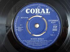 """Buddy Holly EP 1C 1C UK 7"""" It Doesn't Matter Any More FEP 2032 1959 VG+"""