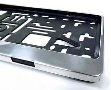 1 Kennzeichenrahmen aus Edelstahl für die Kennzeichengröße 520 mm x 110 mm