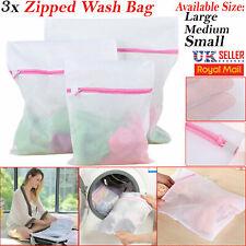 3x Zipped Laundry Washing Machine Mesh Net Bra Socks Lingerie Underwear Wash Bag