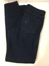 GAP 1969 Women's Always Skinny Jeans Dark Indigo Details Stretch Denim Size 29r