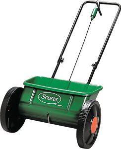 EverGreen Drop Spreader Garden Lawn Seed Outdoor Fertiliser Spreader 45cm