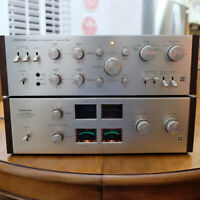 Pioneer QM-80A QC-80A 4 Channel Power Amplifier Pre Amp Made in Japan Set