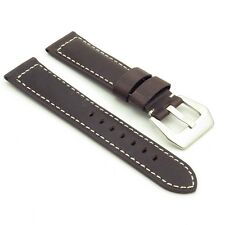 DASSARI Salvage Distressed Vintage Italian Leather Watch Band Strap for Panerai