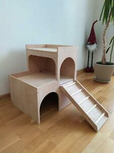 RABBIT 3tier hop up House Castle Shelter Hideout Hideaway Hutch small animal