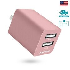 Overtime Dual USB Charger Wall Plug Power Adapter for iPhone Samsung Galaxy