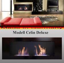 Bio Ethanol Fireplace Celin-Deluxe Black / Incl 2 reg.Stainless Steel Burners -