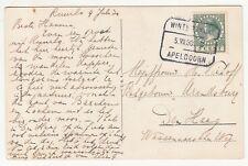 Netherlands: Postcard, Kasteel Ruurlo; Apeldoorn to Den Haag, 5 July 1930