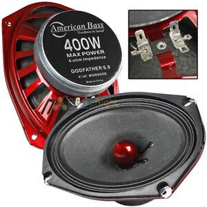 "American Bass 6x9"" Mid Range Speakers 400 Watts Max 4 Ohm Godfather 6.9 Series"