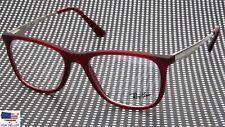 NEW Ray Ban RB7115I 8010 MATTE BORDEAUX EYEGLASSES GLASSES 7115I 53-18-145 B41mm
