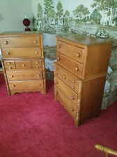 Two Dressers & Bedroom Set VIRGINIA HOUSE Solid Maple - Fantastic Condition!