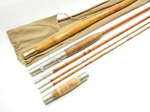 Vintage H.L. Leonard & Mills Co. Bamboo Salmon Rod. 11'. 3/2. W/ Tip Tube.